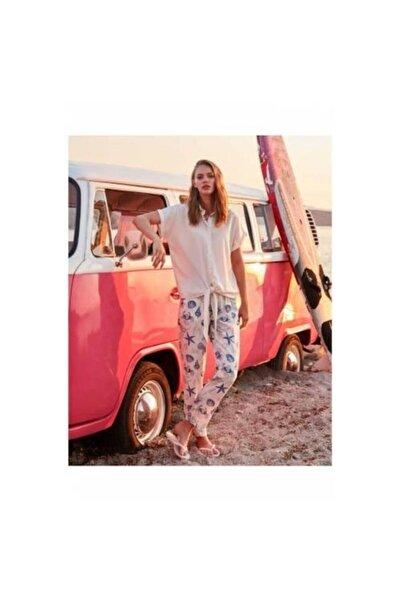 Penyemood Kadın Açık Pembe Deniz Yıldızı Pijama Takımı 8753