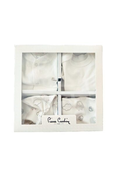 Pierre Cardin Unisex Bebek Beyaz Yeni Doğan 5 Parça Bebe Set Kuzulu Hastane Çıkışı