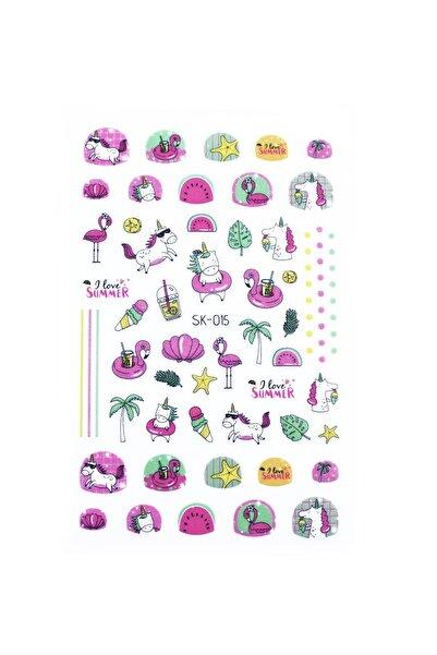 New Obsessions Fuşyalı Çocuk Tırnak Sticker