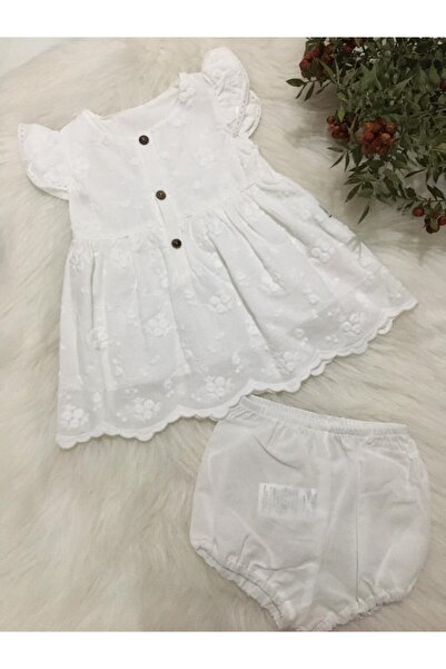 Bebetto Kız Bebek Dokuma 2'li Takım Elbise
