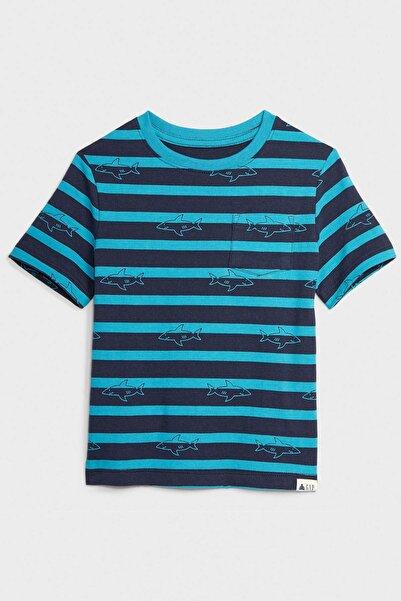 GAP Baby Kısa Kollu Çizgili T-Shirt