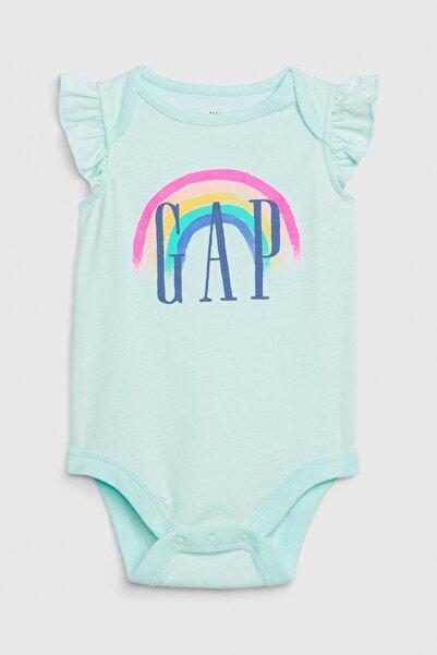 GAP Baby Kız Bebek Logo Fırfırlı Body