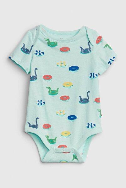 GAP Baby Erkek Bebek Desenli Kısa Kollu Body