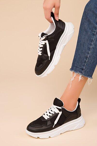 Siyah-Beyaz2 Kadın Sneaker 14997
