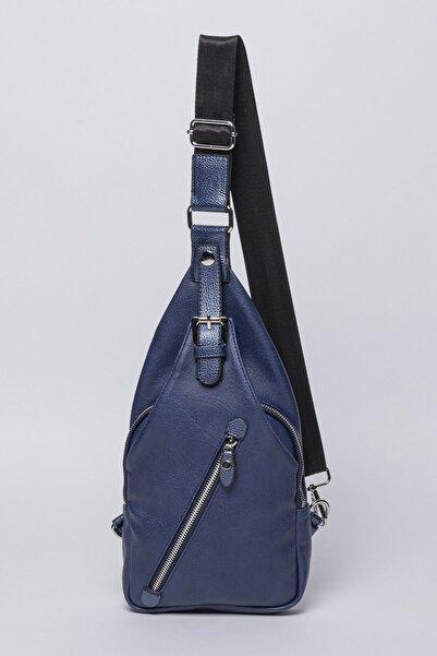 Jacquline Kadın Mavi Body Bag Bel Çantası