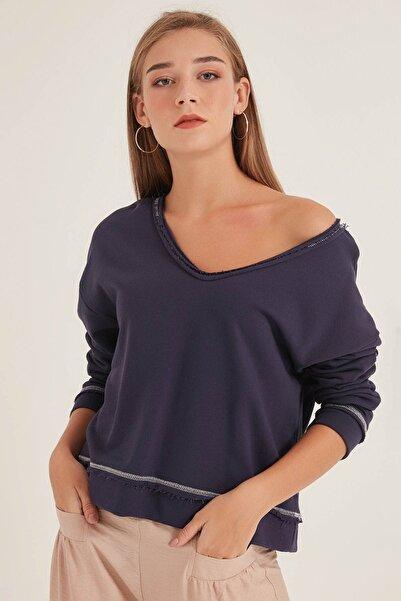 HomeStore Kadın Açık Lacivert Sweatshirt 20250220023