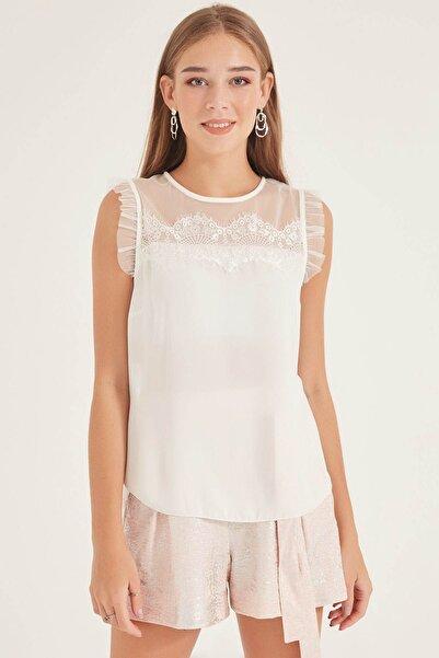 HomeStore Kadın Ekru Bluz 20101016755