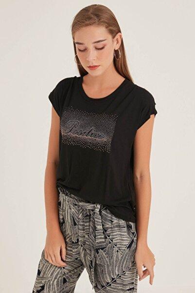 HomeStore Kadın Sıyah T-Shirt 20250119047