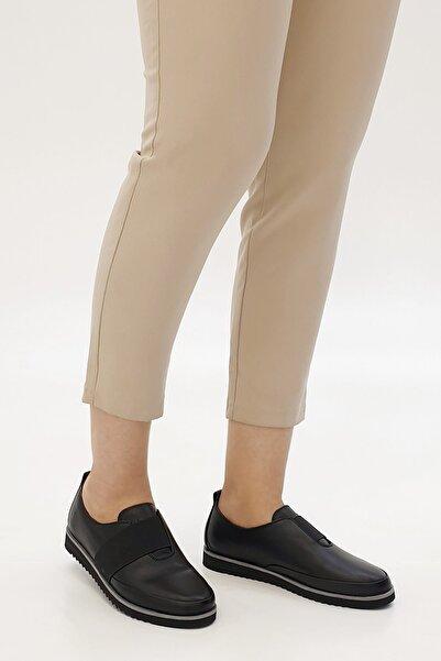 Marjin Siyah Kadın Burlas Hakiki Deri Comfort Ayakkabı 19K0014TP8009-1