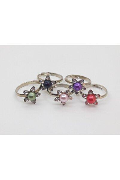 Özel Yapım Trendyıldızı Çiçekli 5 Li Farklı Renk Kız Çocuk Yüzüğü