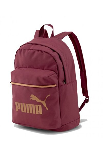 Puma Unisex Bordo Sırt Çantası - WMN Core Base College Bag Burgundy - 07737404