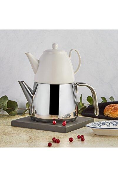 Karaca Ballena Porselen Demlikli Çaydanlık Takımı