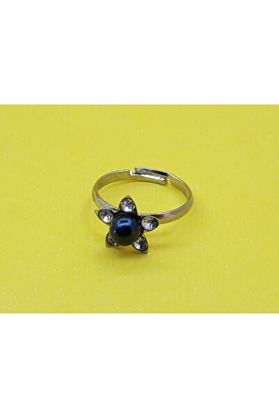 Trendyıldızı Kız Çocuk Siyah Inci Boncuk Yüzüğü