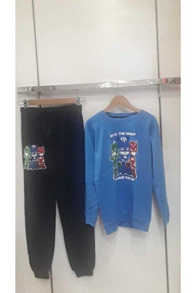 Bella Erkek Çocuk Mavi  Pijamaskeliler Eşofman Takım