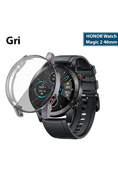 HONOR Watch Magic 2 46mm 360 Koruma Ultra Ince Silikon Kılıf - Gri