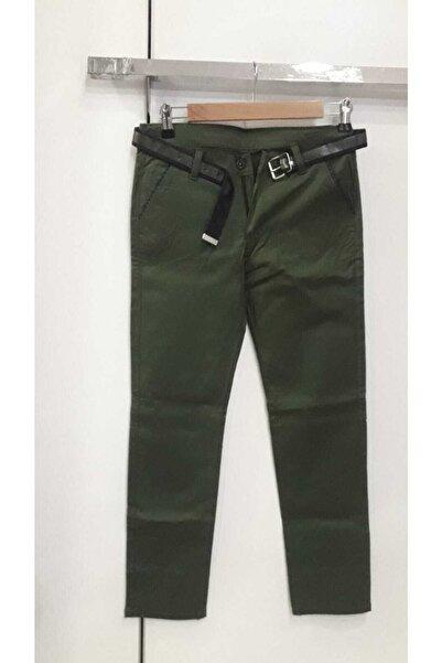 Bella Erkek Çocuk Yeşil Keten Pantolon