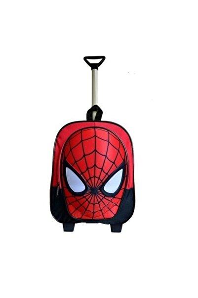 Ewason Spiderman Çift Fermuarlı Anaokulu Ve Günlük Kullanım Çantası Örümcek Adam Çekçekli Tekerlekli