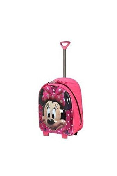 Minnie Mouse Kreş Anaokulu Ve Günlük Kullanım Çantası Çekçekli Tekerlekli 2in1 Anaokulu Çantası