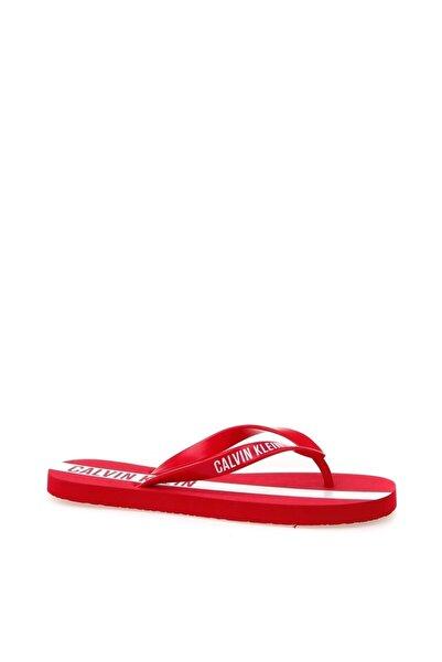 Calvin Klein Ünisex Kırmızı Sandalet