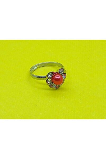 Özel Yapım Trendyıldızı Mini Kalpli Kırmızı Çocuk Yüzüğü