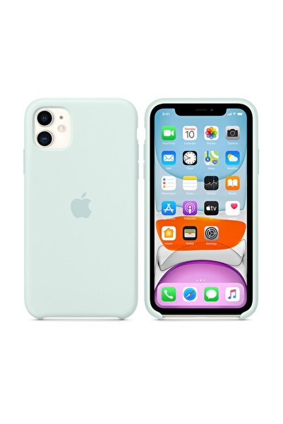 HongYuan Apple Iphone 11 Silikon Kılıfı Beril Yeşili Rengi Apple Kifif