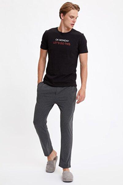 DeFacto Fit Erkek Black Red Pijama Takım S2927AZ20AU
