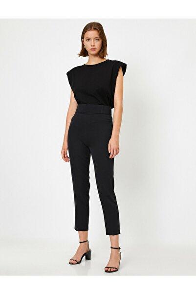 Koton Kadın Siyah Yüksek Belli Cigarette Pantolon