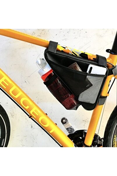 ERSEPLUS Bisiklet Çantası Üçgen Kadro Arası Suluk Hazneli Siyah-siyah
