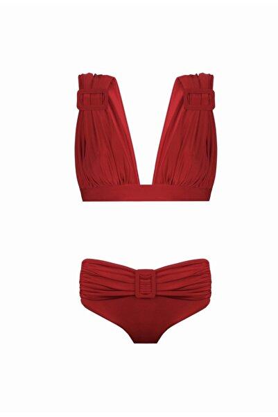 Nur Karaata 3 In 1 Bikini Set Red