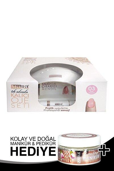 Mara Kalıcı Oje Seti 03 Pink French + Manikür Peeling Hediye