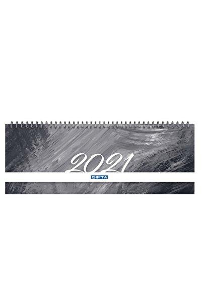 Gıpta Brite 2021 Haftalık Spiralli Masa Takvimi 12x33 Cm (504-btk) Siyah