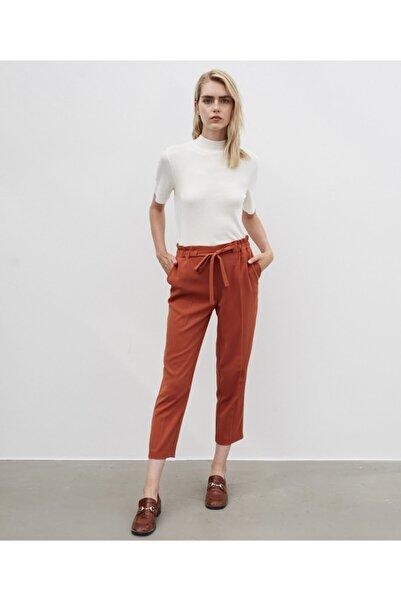 İpekyol Kadın Kahverengi Yüksek Bel Kuşaklı Pantolon
