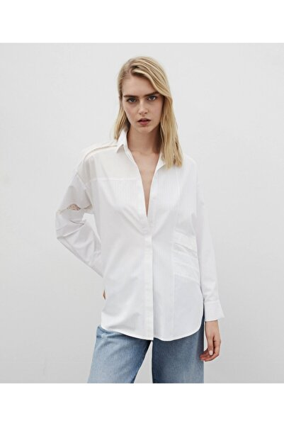 İpekyol Kadın  Dantel Mixli Gömlek
