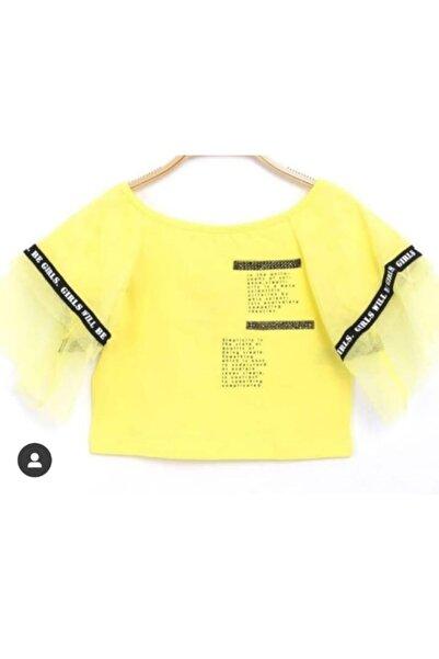 nk kids Sarı Geniş Omuz T-shirt