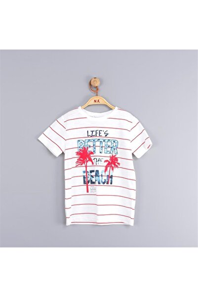 nk kids Çizgili Beach T-shirt