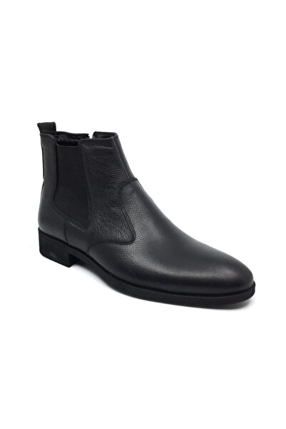 Taşpınar Erkek Siyah Hakiki Deri Kürklü Klasik Kışlık Bot Ayakkabı 40-44