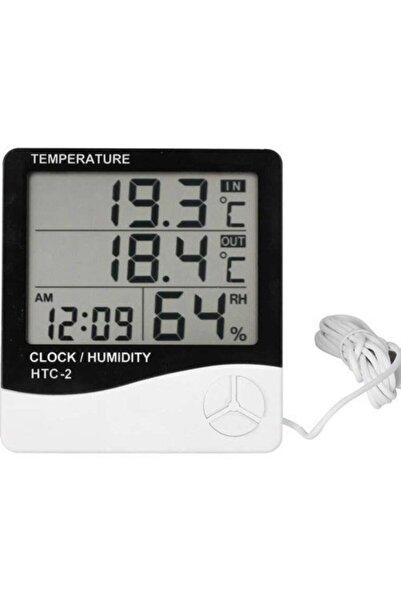 gaman Htc-2 Dijital Nem Ve Sıcaklık Ölçer Saat - Termometre Iç Ve Dış Ortam Hava Sıcaklığı Ölçer