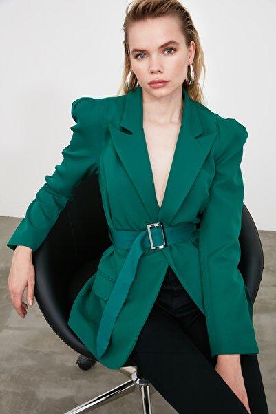 Yeşil Beli Kemerli Ceket TWOSS20CE0052
