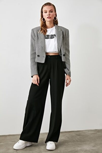 Siyah Basic Pantolon TWOAW21PL0076