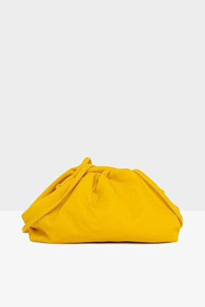 Bagmori Sarı Kadın Burslu Küçük Bohça Çanta M000004078
