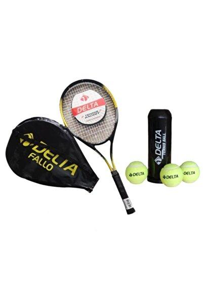 Delta Fallo 27 Inç Yetişkin Tenis RaketiMaç Topu 3 Adet