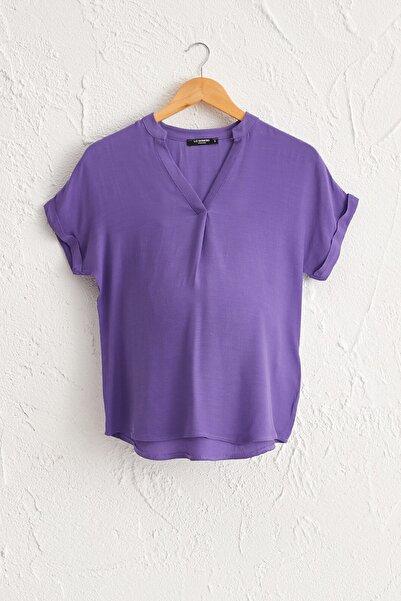 LC Waikiki Kadın  Mor   Bluz 0Sas40Z8