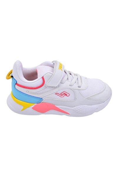 Jump Unisex Çocuk Beyaz Günlük Cırtlı Spor Ayakkabı 24931