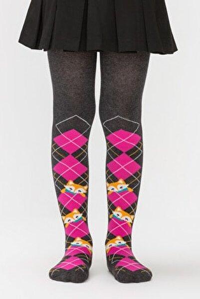Kız Çocuk Fuşya Pretty Foxy Külotlu Çorap