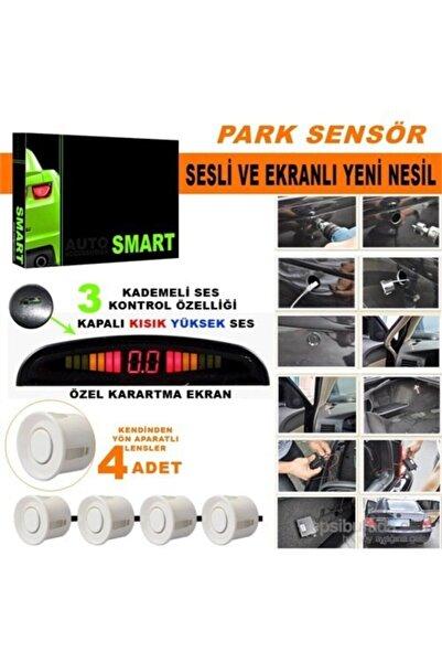 Marka Park Sensörü Ses Kontrol Düğmeli Ekranlı Beyaz Lensli