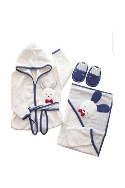 Gaye Erkek Bebek Havlu Bornoz Seti 826 Bebek Banyo Takımı Baby Gift