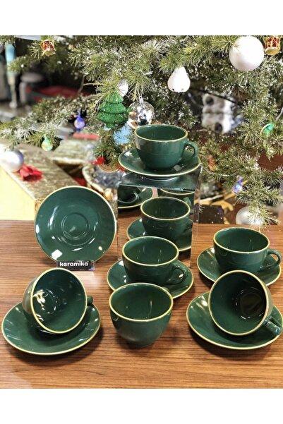 Keramika Jocobs Yeşil Fincan Seti