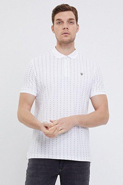 Loft Erkek Beyaz Slim Fit Polo Yaka T-shirt Lf2024549