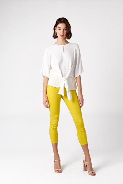 RANDOM Kadın Sarı Yüksek Bel Dar Pantolon