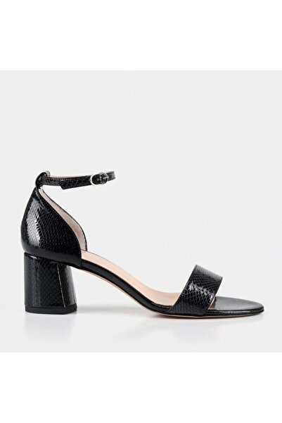 Hotiç Kadın  Siyah Tek Bant Topuklu Ayakkabı